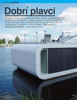 Plávajúce domy od amsterdamského štúdia +31ARCHITECTS si