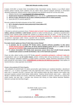 informácia o členských poplatkoch kst