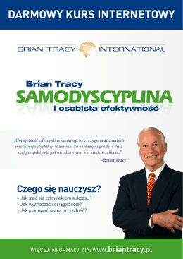 SAMODYSCYPLINA - Brian Tracy International
