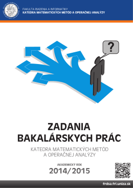 Zadania bakalárskych prác pre akademický rok 2014/2015
