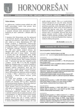 Hornoorešan - číslo 2/2010