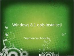 Windows 8.1 opis instalacji