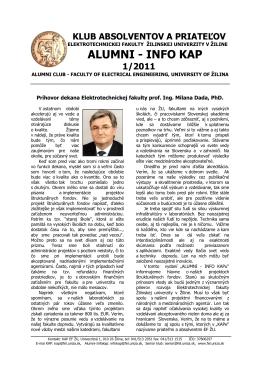 alumni - info kap 1/2011 - Elektrotechnická fakulta