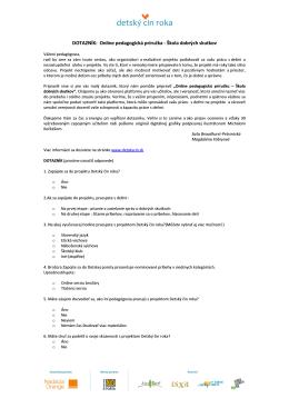 DČR Dotazník - Detský čin roka 2014