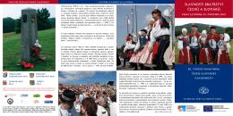 slavnosti bratrství čechů a slováků - Moravsko