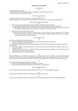 Regulamin Promocji - DLA DOMU - 09.02.2015