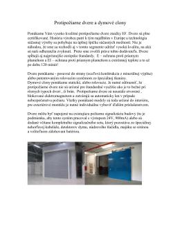 Protipožárne dvere a dymové clony