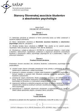 Stanovy Slovenskej asociácie študentov a absolventov