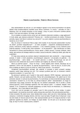 """Joanna Szymanowska - """"Wejście w psychoanalizę"""