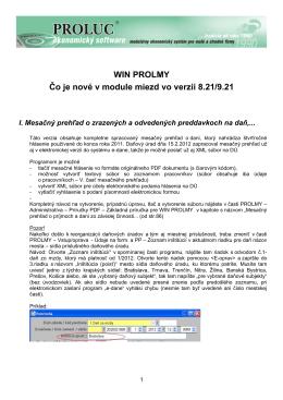 Popis noviniek TU .......(dokument PROLMY2012_02)
