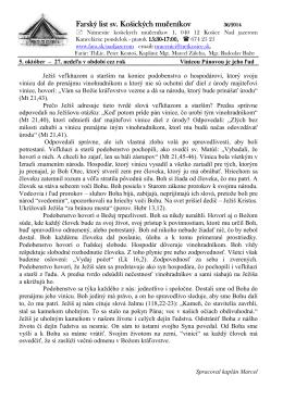 5. Október 2014 - Farnosť sv. košických mučeníkov