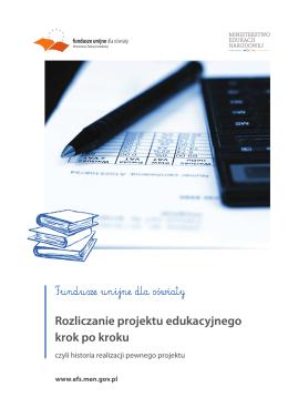 Rozliczanie projektu edukacyjnego krok po kroku