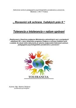 Tolerancia a intolerancia (.pdf)