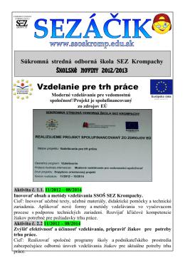 Školský časopis Sezáčik