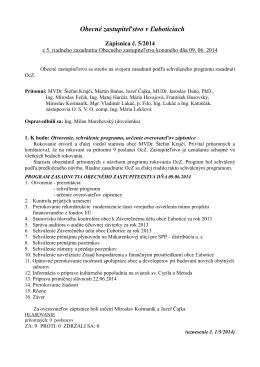 zápisnica z rokovania OcZ