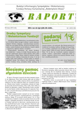podaruj - Fundacja Pomocy Humanitarnej Redemptoris Missio