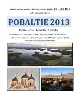 POBALTIE2013 - Katedra krajinnej ekológie