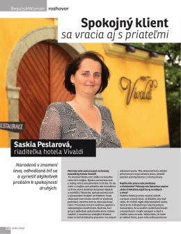 Spokojný klient - Saskia Peslarová