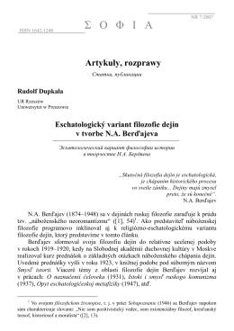 Eschatologicky variant