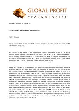 GLPT sprava-2012 - Global Profit Technologies