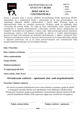 Deklaracja KKS BUDO