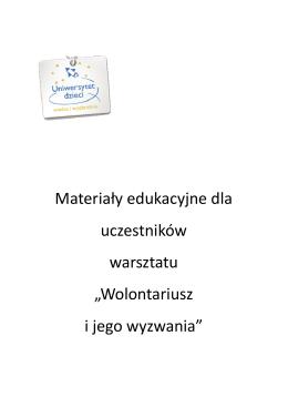 materiały dla uczestników