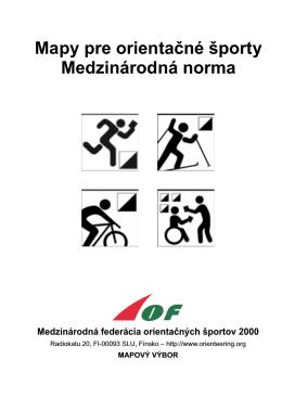 Medzinárodná norma máp pre orientačné športy ISOM 2000
