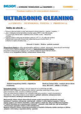 Ultrazvukové čistenie - cleaning 1