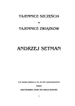 Związek - Andrzej Setman