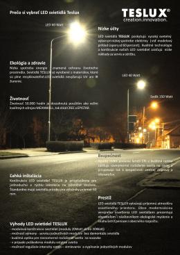 Prečo si vybrať LED svietidlá Teslux Výhody LED svietidel TESLUX