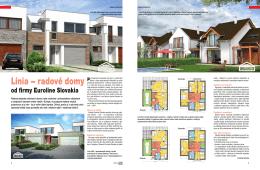 Línia – radové domy - Rodinné domy EUROLINE