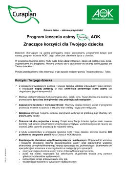 Program leczenia astmy AOK Znaczące korzyści dla Twojego dziecka