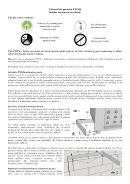 Užívateľská príručka EVO36 Solárne senzorové