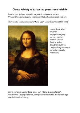 Obraz kobiety w sztuce na przestrzeni wieków
