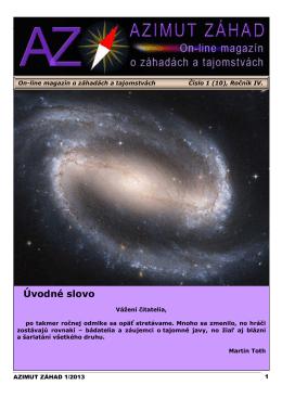 Úvodné slovo - Klub psychotroniky a UFO