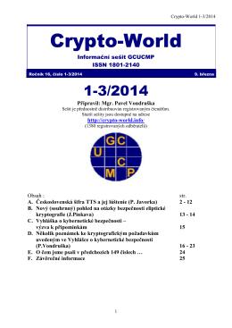 Sešit 1-3/2014 / PDF - Crypto
