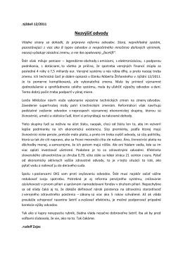 týždeň 12/2011 - Nezvýšiť odvody