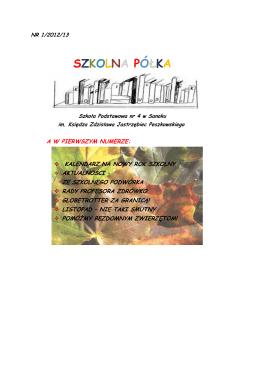 SZKOLNA PÓŁKA - Szkoła Podstawowa nr 4 w Sanoku