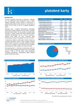 Štatistika platobných kariet september 2013