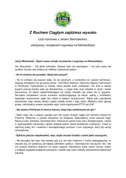 tekst wywiadu - ZZPRC KWB Bełchatów