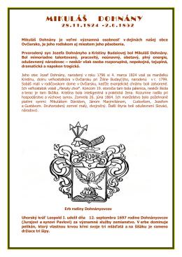 mikuláš dohnány 28.11.1824 - 2.6.1852
