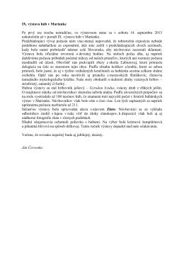 IX. výstava húb v Marianke Po prvý raz trochu netradične, vo