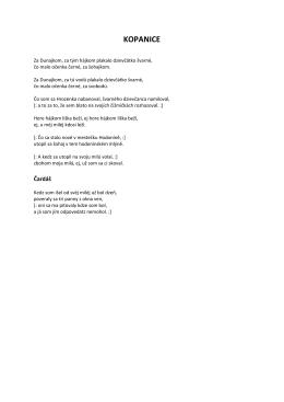 Kopanice - texty