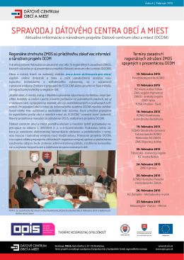 Spravodaj Dátového centra obcí a miest – číslo 6