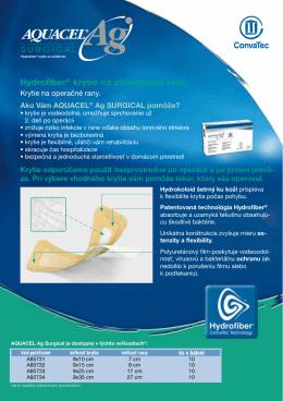 Hydrofiber® krytie na chirurgické rany