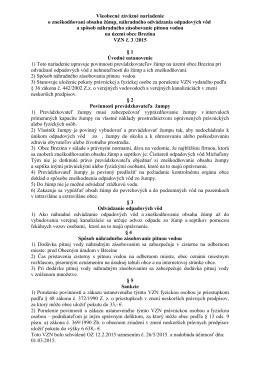 VZN č. 3/ 2015 o zneškodňovaní obsahu žúmp