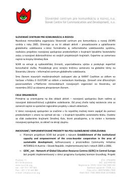 na stiahnutie - Slovenské centrum pre komunikáciu a rozvoj
