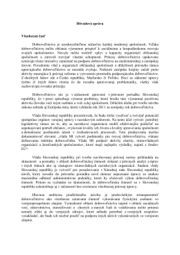 Dôvodová správa - dobrovolnictvo.sk