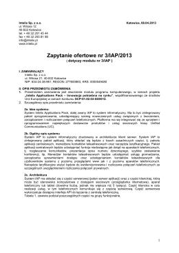 Zapytanie ofertowe 3-IAP-2013 - Intelix