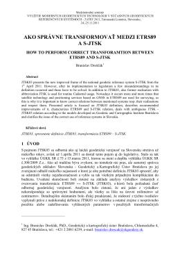 formálna úprava príspevku - Geodetický a kartografický ústav